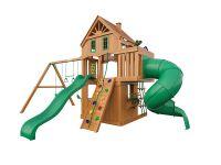 Деревянная детская площадка IgraGrad Шато 2 с трубой (домик)