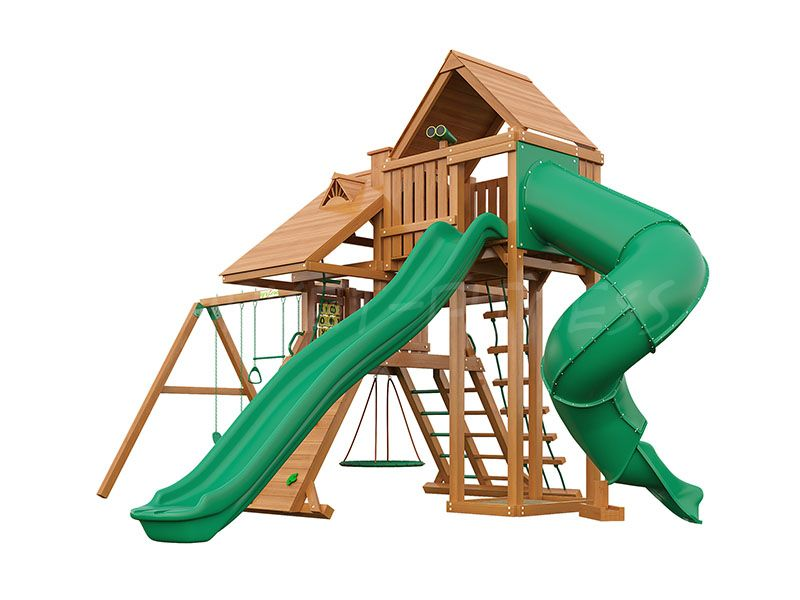 Деревянная детская площадка IgraGrad Крепость Фани Deluxe 3