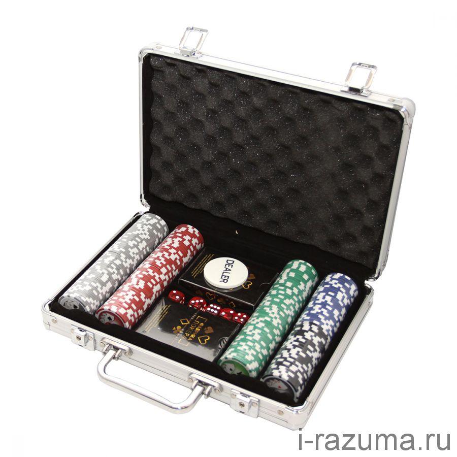 Покерный набор на 200 фишек «Фабрика покера»  (фишка 11,5 гр./алюминиевый кейс)