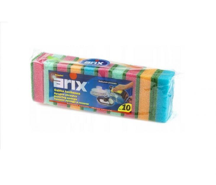 Arix губки для посуды 10 шт
