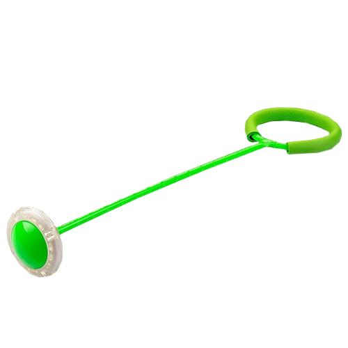 Нейроскакалка со светящимся роликом, 50 см. Цвет: зеленый.