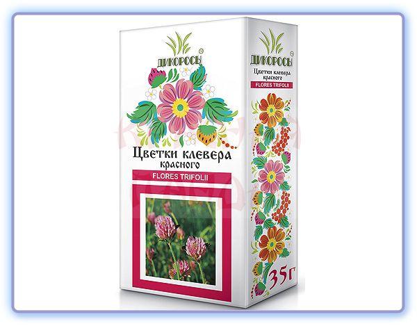 Цветки Клевера красного Дикоросы