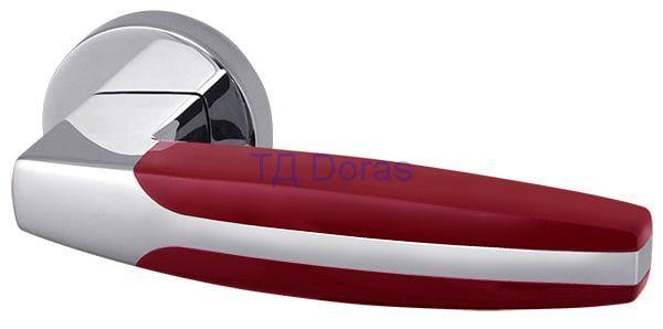 Ручка раздельная ARC URB2 СР/Bordo-15 Хром/бордовый