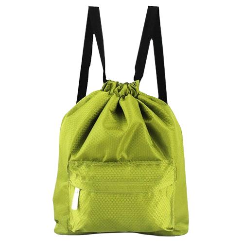 Пляжная сумка-рюкзак с отделением для мокрых вещей, 30 х 40 см. Цвет: зеленый.