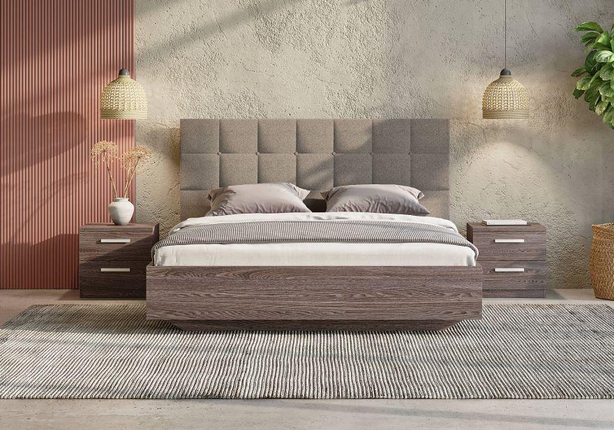 Кровать Luiza (ясень анкор) с подъемным механизмом | Сонум