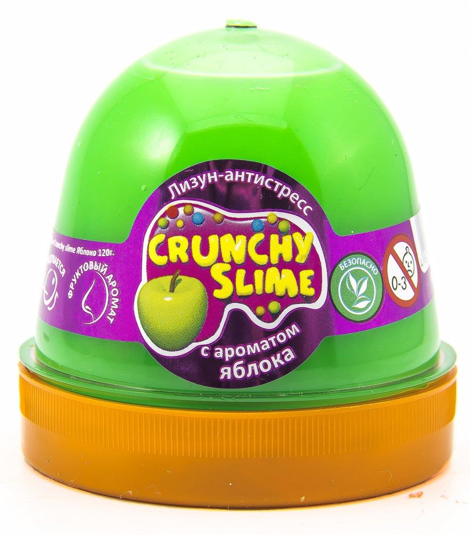 Слайм Mr.Boo Crunchy slime Яблоко, 120 гр