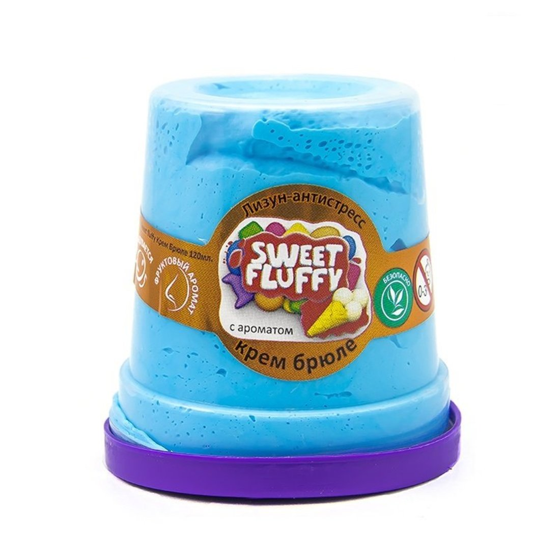 Слайм Mr.Boo Sweet fluffy Крем-брюле, 120 гр