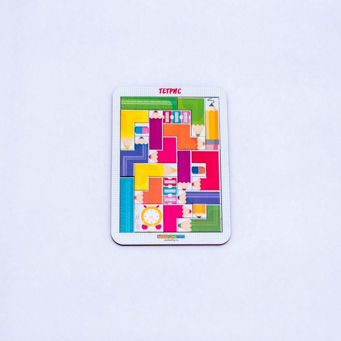 Логическая игра WOODLANDTOYS 65205 Тетрис малый Цветные карандаши
