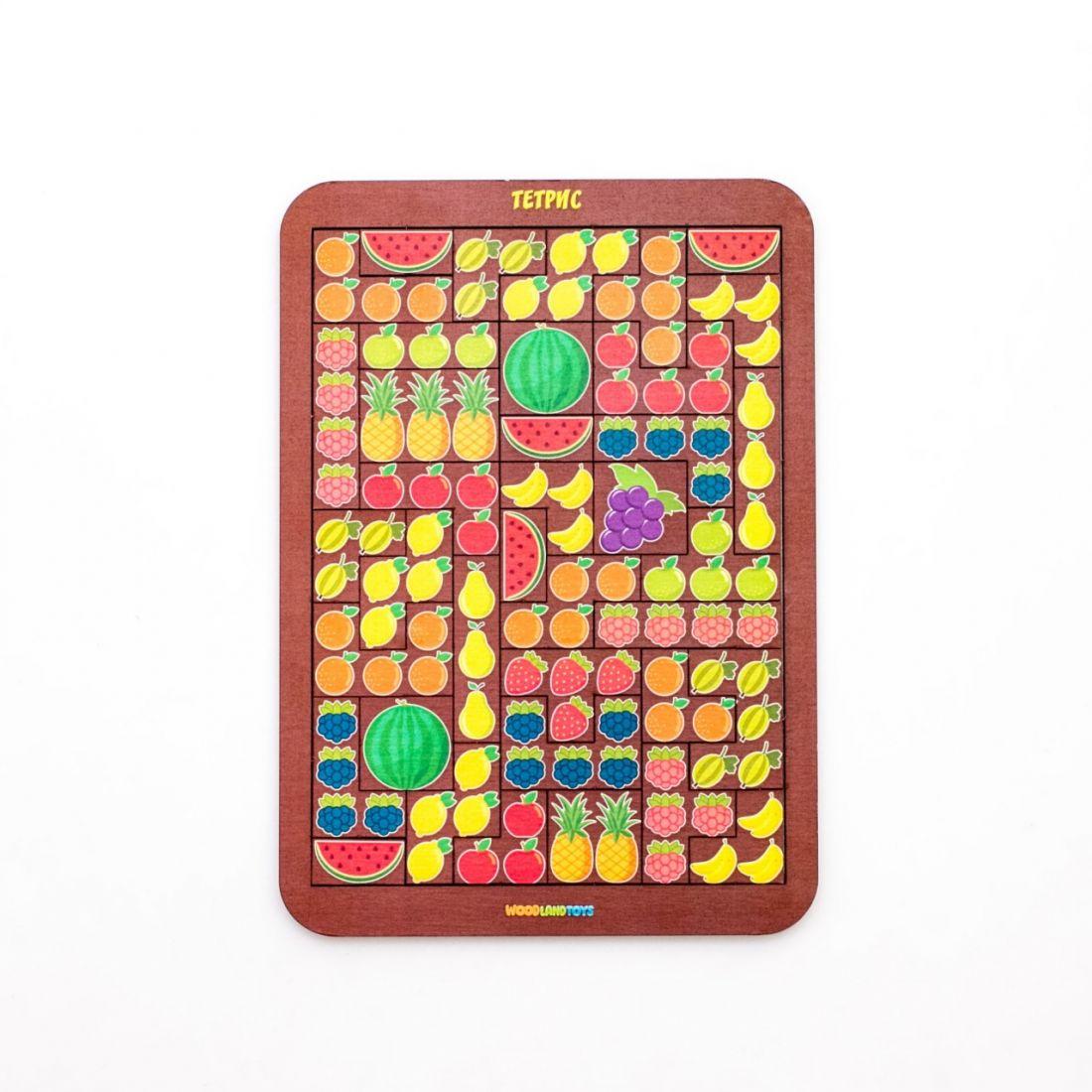 Логическая игра WOODLANDTOYS 65111 Тетрис большой Фрукты/ягоды