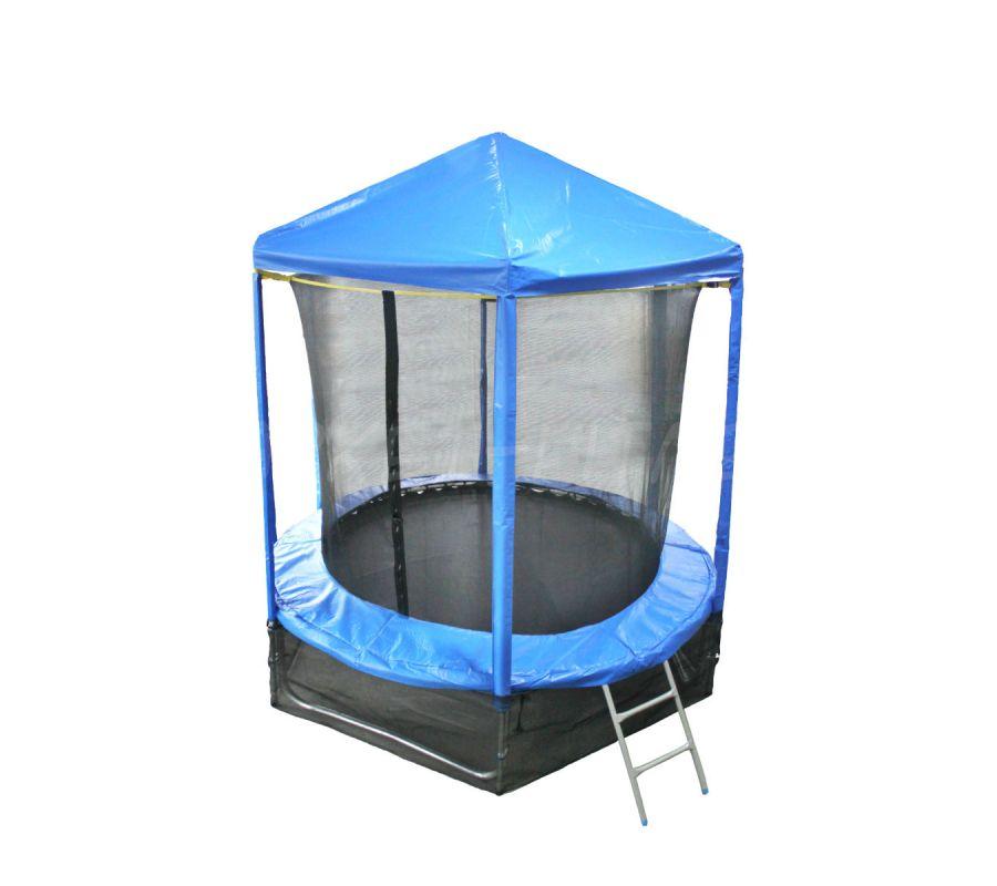 Батут OPTIFIT LIKE BLUE 6 FT (1.83 м) с синей крышей