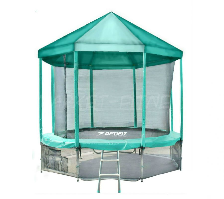 Батут OPTIFIT LIKE GREEN 10 FT (3.05 м) с зеленой крышей