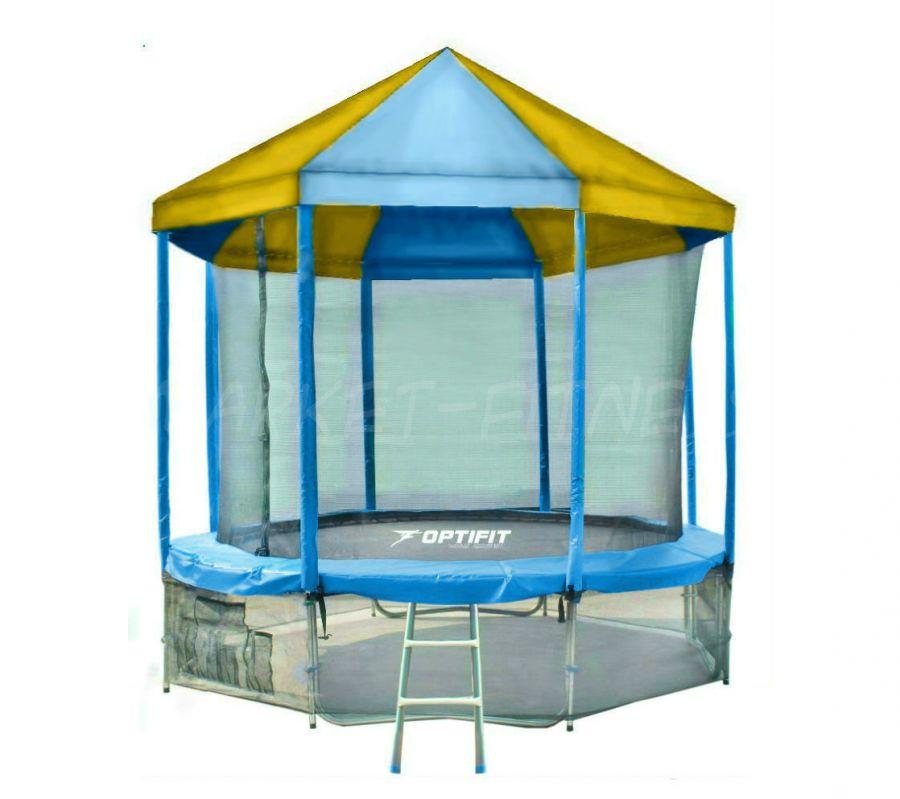 Батут OPTIFIT LIKE BLUE 10 FT (3.05 м) с сине-желтой крышей