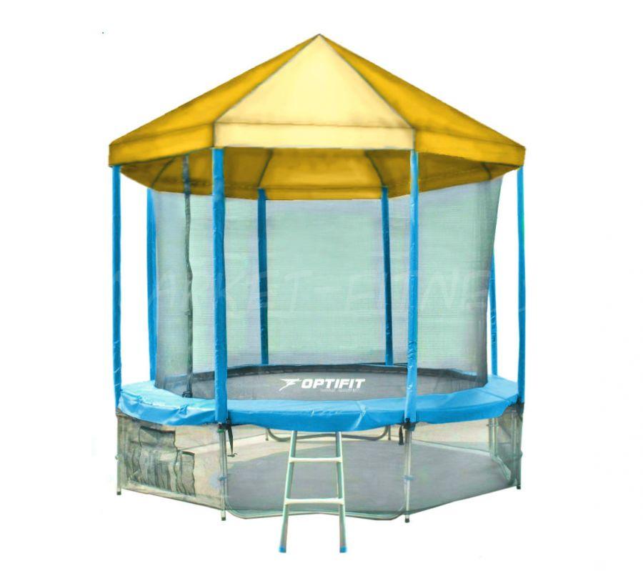 Батут OPTIFIT LIKE BLUE 16 FT (4.88 м) с желтой крышей