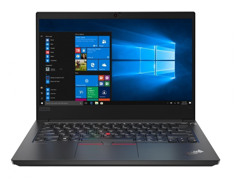 "Ноутбук Lenovo ThinkPad E14 (20RA005MRT); 14"" FullHD (1920x1080) IPS LED матовый / Intel Core i7-10510U (1.8 - 4.9 ГГц) / RAM 16 ГБ / SSD 1 ТБ / AMD Radeon RX 640, 2 ГБ / без ОП / LAN / Wi-Fi / BT / веб-камера / Windows 10 Professional / 1.77 кг / че"