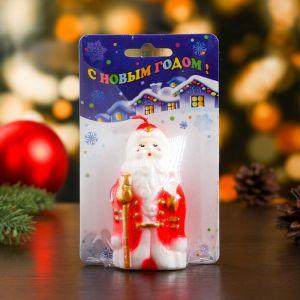 """Свеча """"Дед Мороз с посохом"""" средняя"""