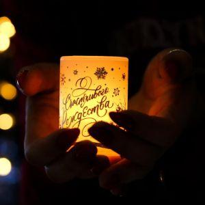 Электронная свеча «Счастливого Рождества»