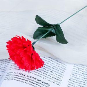 """Цветок искусственный """"Красная гвоздика"""""""