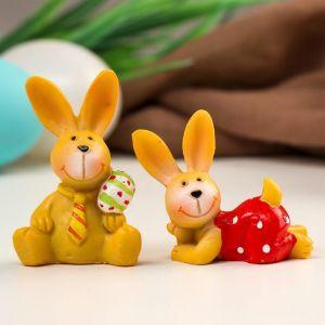 "Сувенир полистоун ""Пасхальный кролик"" МИКС 5,5х3,8х3 см   5037839"