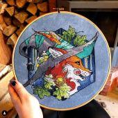 """Digital cross stitch pattern """"Fox 3""""."""