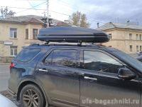 Багажник на крышу - аэродинамические дуги на рейлинги Ford Explorer 2011-15, Евродеталь