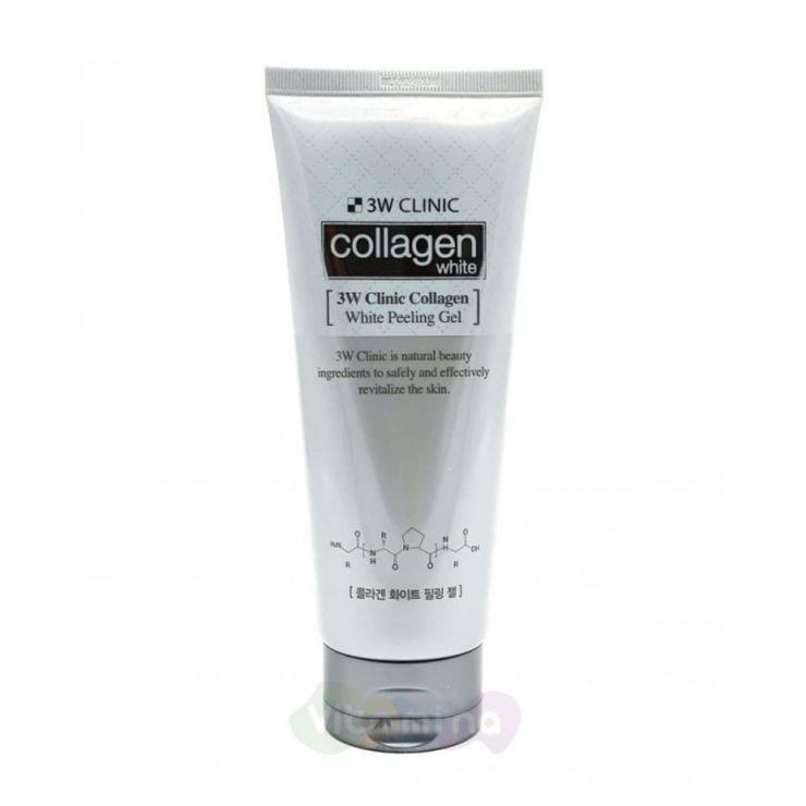 3W Clinic Осветляющий пилинг-гель с коллагеном Collagen Whitening Peeling Gel, 180 мл