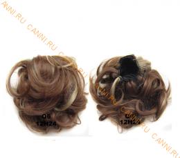 """Искусственные термостойкие волосы - Шиньон """"Пучок"""" #12H24, вес 60 гр"""