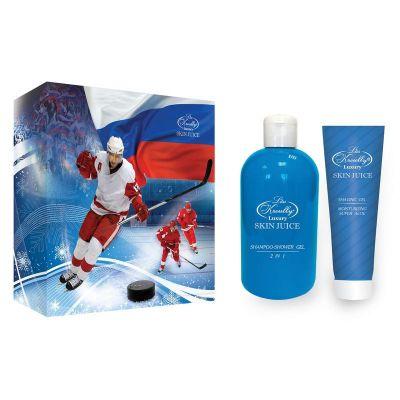 Liss Kroully Skin juice Парфюмерно-косметический подарочный набор MN-1801 Для мужчин Шампунь-гель 2 в 1 300 мл + Гель для бритья 100 мл