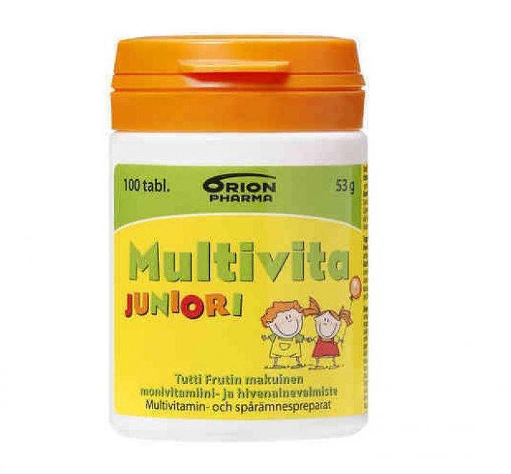 MULTIVITA Junior TuttiFrutti 100 жевательных таблеток
