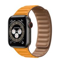 Часы Apple Watch Edition Series 6 GPS + Cellular 40mm Space Black Titanium Case with Leather Link California Poppy Leather Link