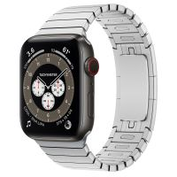 Часы Apple Watch Edition Series 6 GPS + Cellular 44mm Space Black Titanium Case with Silver Link Bracelet