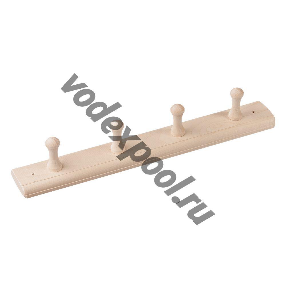 Вешалка деревянная для бани на 2,3,4 гв