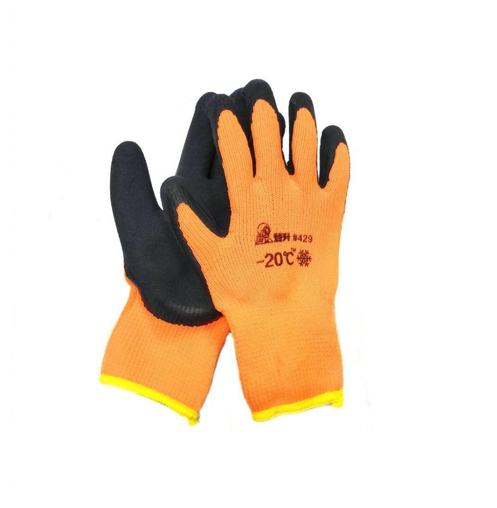 Зимние рабочие перчатки с покрытием из вспененного латекса #429