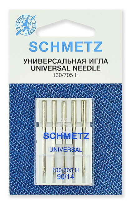 Иглы стандартные Schmetz 130/705H № 90 (22:15.2.VDS)