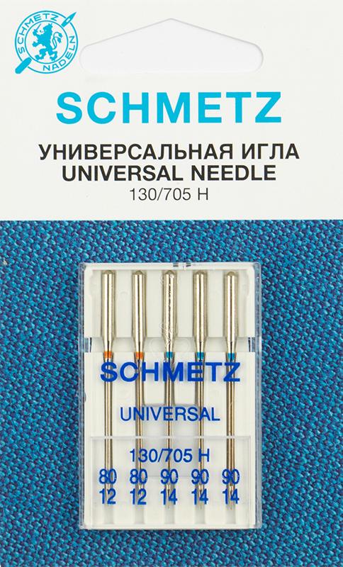 Иглы стандартные Schmetz 130/705H № 80(2),90(3) (22:15.2.VZS)