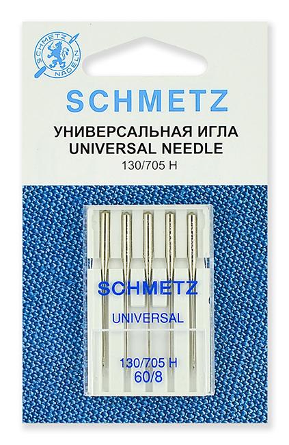 Иглы стандартные Schmetz 130/705H № 60 (22:15.2.VAS)