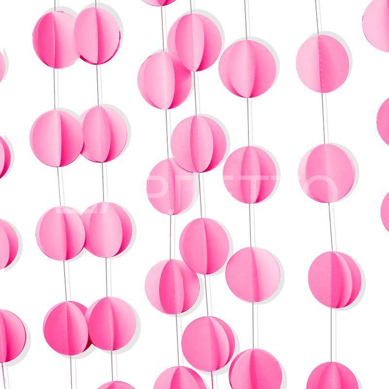 """Подвеска """"Круги"""" розовый"""