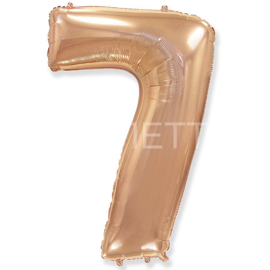 """Цифра """"7"""" розовое золото"""