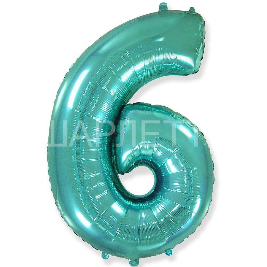 """Цифра """"6"""" тиффани"""