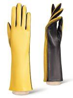 Длинные желтые перчатки ELEGANZZA