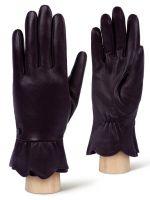 Фолетовые женские перчатки ELEGANZZA