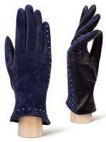Серые перчатки из натуральной кожи LABBRA
