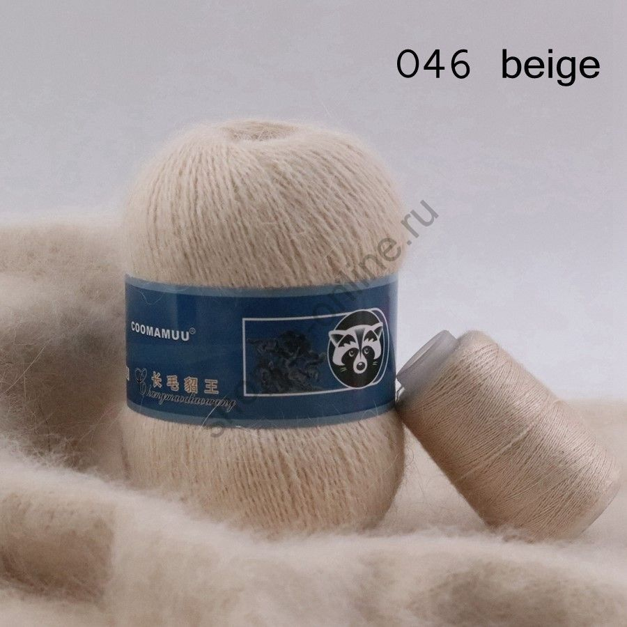 Плюшевая пряжа с шерстью норки 046