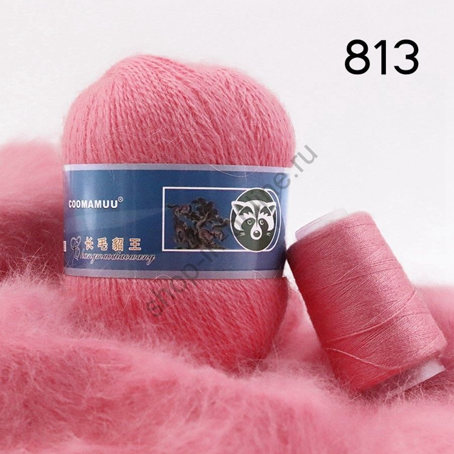 Плюшевая пряжа с шерстью норки 813