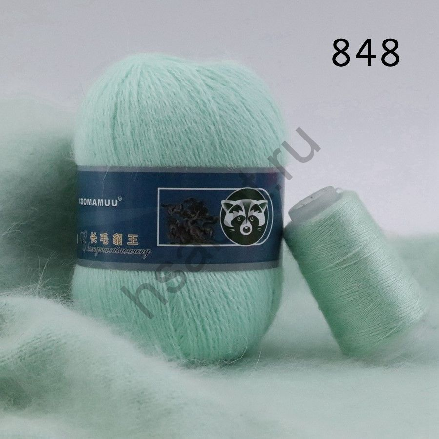 Плюшевая пряжа с шерстью норки 848