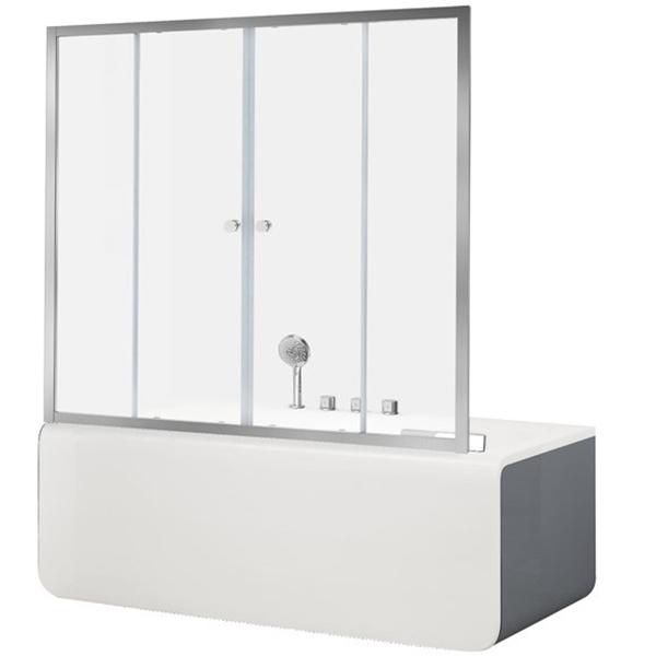 Шторка для ванны Aquanet Alfa 5 NAA6142 170, прозрачное стекло