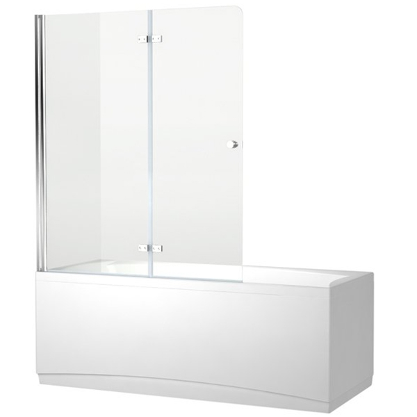 Шторка для ванны Aquanet Beta 4 NF6222-hinge, прозрачное стекло