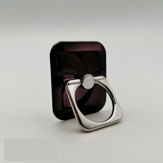 Кольцо-держатель для телефона квадратное сливовое