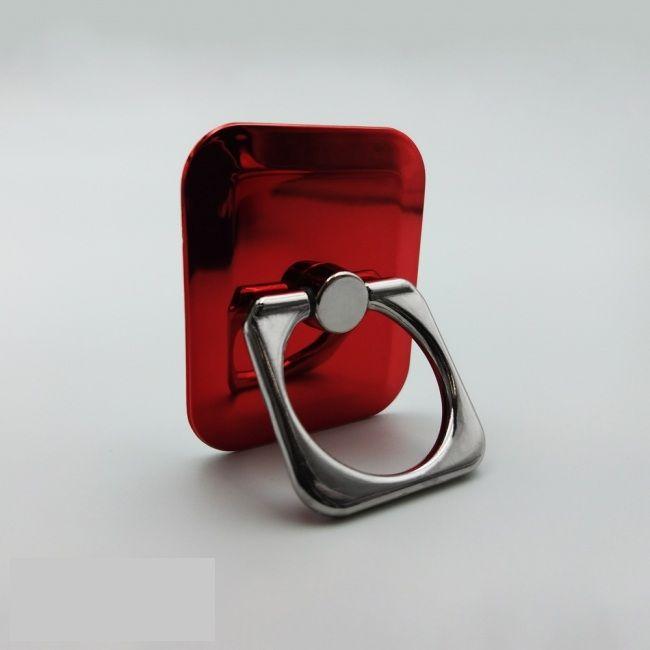 Кольцо-держатель для телефона квадратное красное