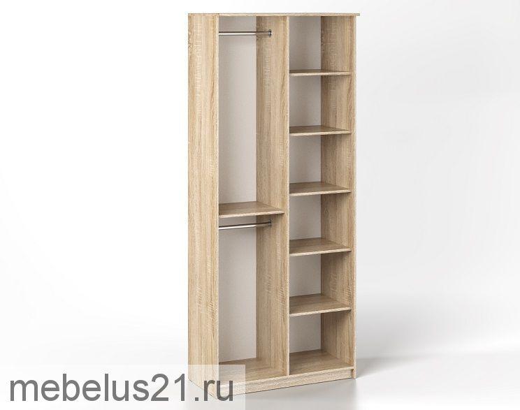 Шкаф 2-х ств. с зеркалом Дуэт Люкс