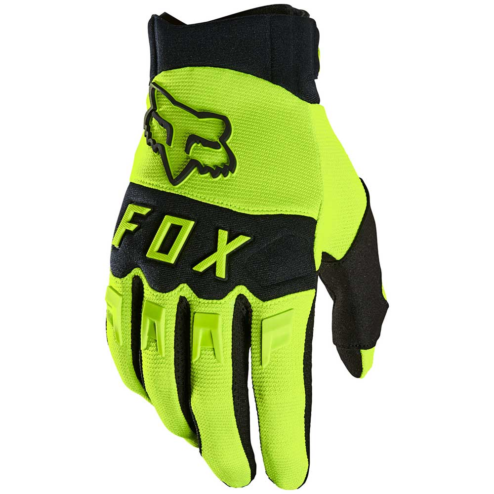 Fox 2021 Dirtpaw Fluorescent Yellow перчатки